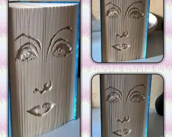 "Book folding pattern ""Greta Garbo"" cut and fold, measurements pattern"