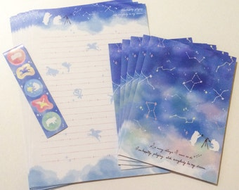 Dream Constellations Letter Set - Japanese Stationery