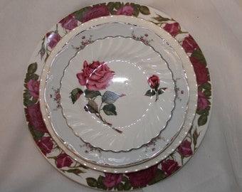 Mix match vintages plates