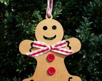 Gingerbread Man, Gingerbread decoration, Wooden Gingerbread Man, Christmas Gingerbread man
