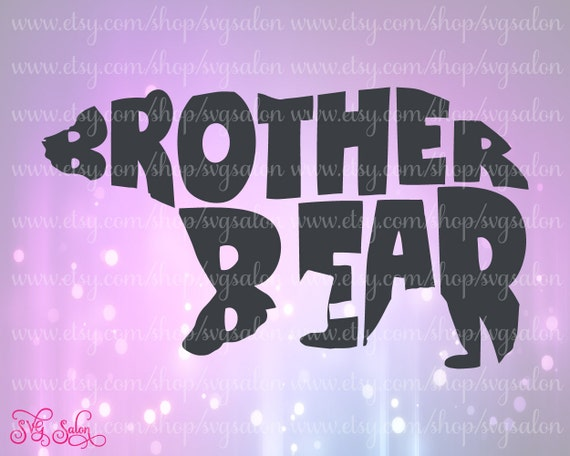 Brother Bear Word Art Cute Iron On Vinyl Decal Cutting by ...
