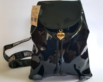 New with Tag! Vintage Moschino Patent Backpack