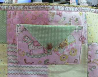 Tote Bag - Baby Themed Pink