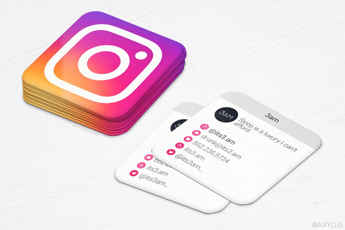 Instagram business cards wwwimgkidcom the image kid for How to do a business card