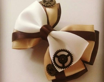 Steampunk inspired bow
