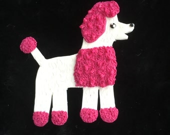 "brooch ""Poodle"", polymer clay brooch for scarf"