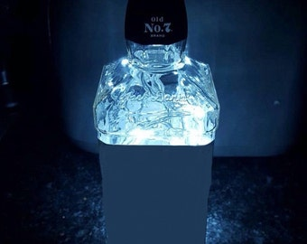 Upcycled Jack Daniels® bourbon bottle lamp by JCLamps