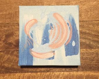 Swirl Abstract Painting | Acrylic | Painting | Wall Art | Fine Art | Visual Art | Gift | Birthday Gift | Housewarming Gift | Miniature Art