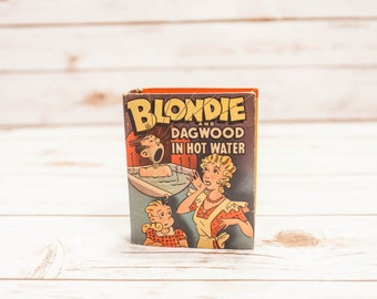 Vintage 1940s Blondie & Dagwood In Hot Water Little Big Book #1410 The Better Little Big Book Collectable