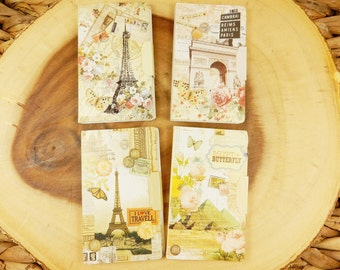 Travel Memo Pads, Paris Post It, Egyptian Sticky Notes, Romantic Stationery