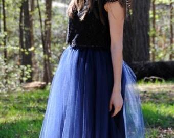 Navy Blue,Adult TULLE SKIRT, Blush tulle skirt,Adult tulle skirt, tutu,very soft.
