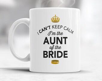 Aunt of The Bride, Wedding Mugs, Brides Aunt, Brides Aunt Gift, Brides Aunt, Aunt of the Bride, Brides Aunt Gift, Wedding Gift Ideas