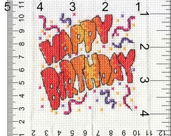 Beautiful Handmade CrossStitch Inserts for Birthday Cards