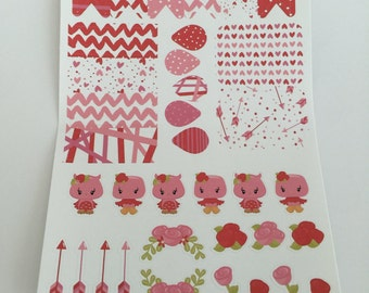 Woodland Romance Planner Stickers