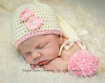 Baby Girl Hat, Baby Girl Gift, Newborn Girl Hat, Newborn Girl Photo Prop, Newborn Hat, Newborn Props, Newborn Girl, Newborn Photo Prop