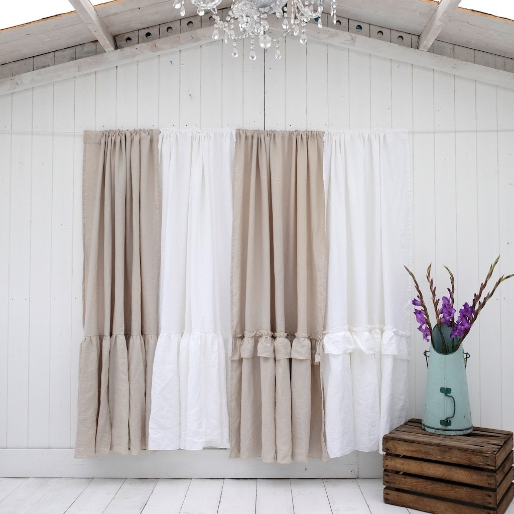 Linen Curtain Linen Drapes Window Curtains Shabby Chic