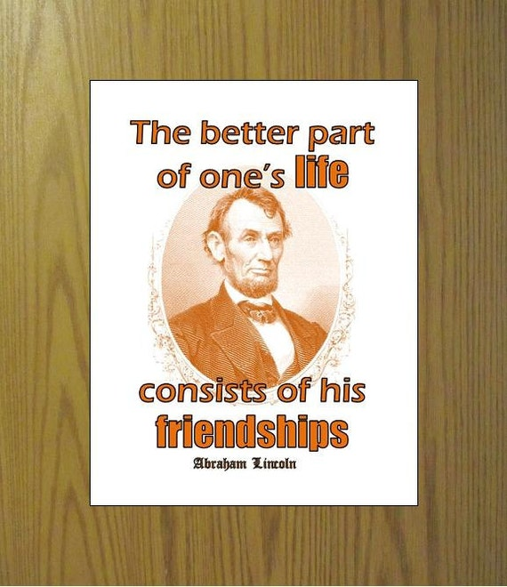 Abraham Lincoln Quotes Friendship: Abraham Lincoln Friendships Quote Saying Printable Instant