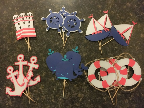 Nautical Cake Decorations Uk : Nautical Cupcake Topper Cupcake Toppers Nautical Themed