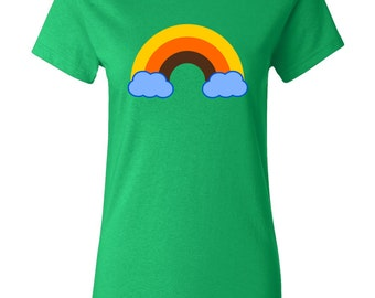 70s Rainbow Womens T-shirt