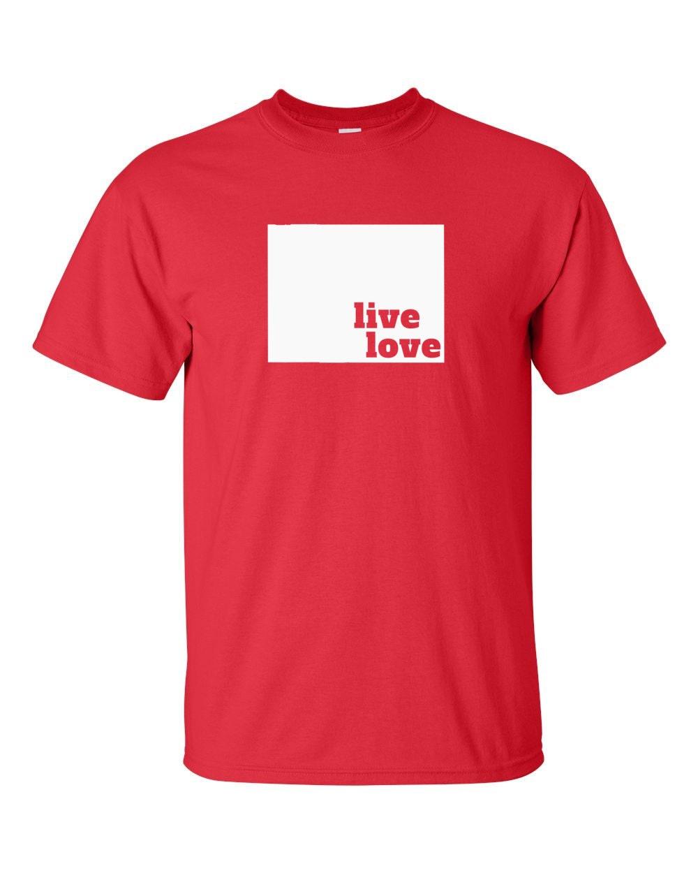Wyoming T-shirt - Live Love Wyoming - My State Wyoming T-shirt