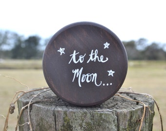 Ring Bearer Pillow Box, I Love You To the Moon and Back, Ring Bearer, Trinket Box, Starry Night, Ring Box, Ring Holder, To the Moon