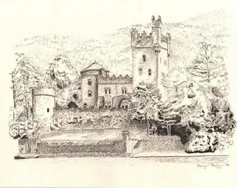Glenveagh Castle Drawing 2