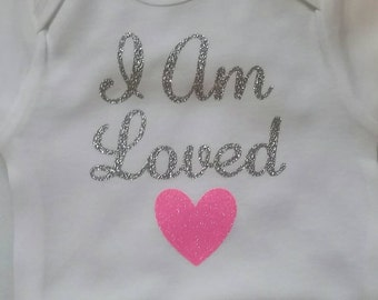 I am loved onesie, bodysuit baby