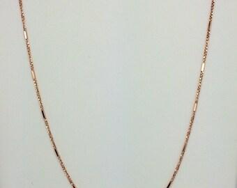 14K Rose Gold Diamond Cut Chain