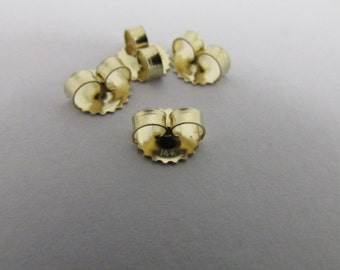 14K Solid Yellow Gold 6.50mm Backing