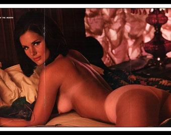 "Mature Playboy January 1969 : Playmate Centerfold Leslie Bianchini Gatefold 3 Page Spread Photo Wall Art Decor 11"" x 23"""