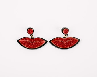 Sale KISS Acrylic Earrings