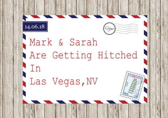 When To Mail Wedding Invitations: Air Mail Wedding Invitation Printable Wedding Invitations