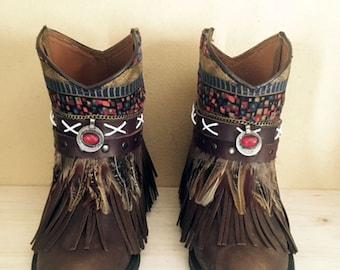Boho boots handmade