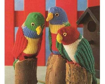Knitted Bird Pattern : Knit bird pattern Etsy
