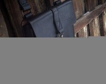 small shoulder leather bag