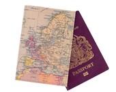 Personalised Vintage Map Passport Case
