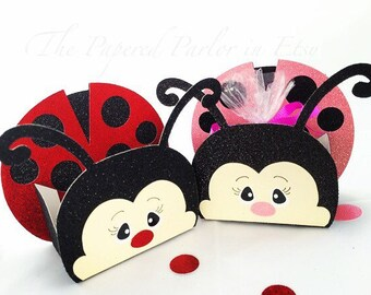 Ladybug Party Bags/Ladybug Birthday Party/Ladybug Baby Shower/Ladybug Party Box/Ladybug Goody Bags/Ladybug Box/Ladybug Party Supplies