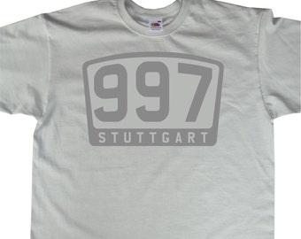 Porsche Inspired 997 911 STUTTGART Emblem T-Shirt BC346