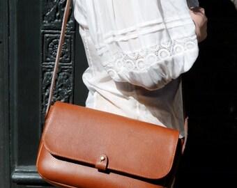 Brown Leather Satchel, Brown Leather Cross Body Bag, Brown Leather Shoulder Bag