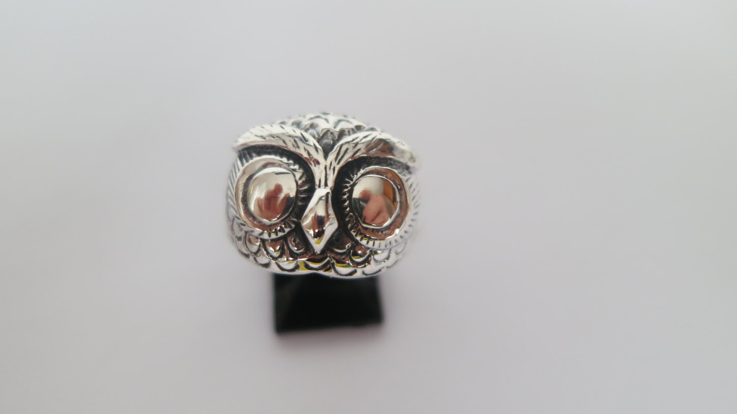 silver owl ring solid 92 5 sterling silver ring boho free