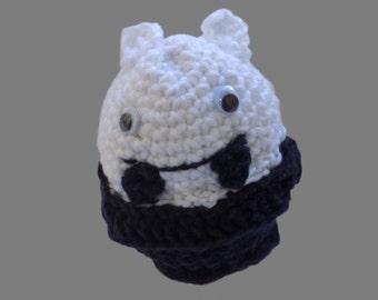 amigurumi, figure, vampire, crochet, white, black