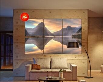 mountain lake  canvas mountain lake wall decoration mountain lake canvas art mountain lake large canvas  wall decor