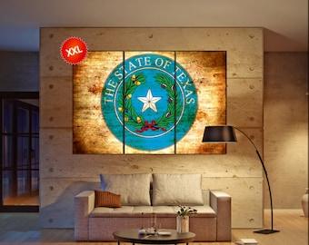 Texas seal flag  canvas wall art Texas seal flag wall decoration Texas seal flag canvas wall art art Texas seal flag large canvas wall art