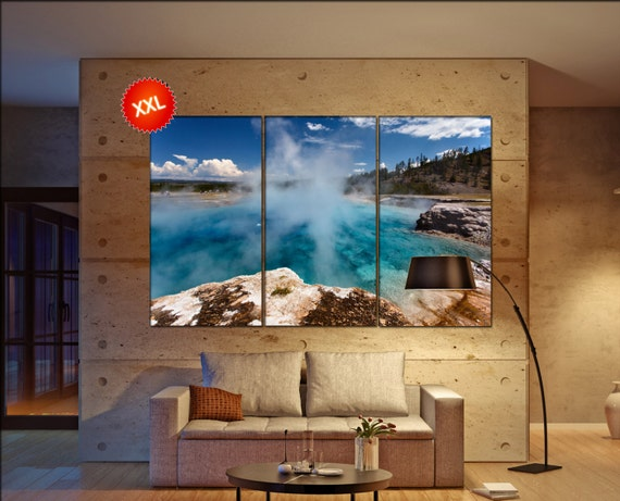 Yellowstone  canvas wall art Yellowstone wall decoration Yellowstone canvas wall art art Yellowstone large canvas wall art  wall decor