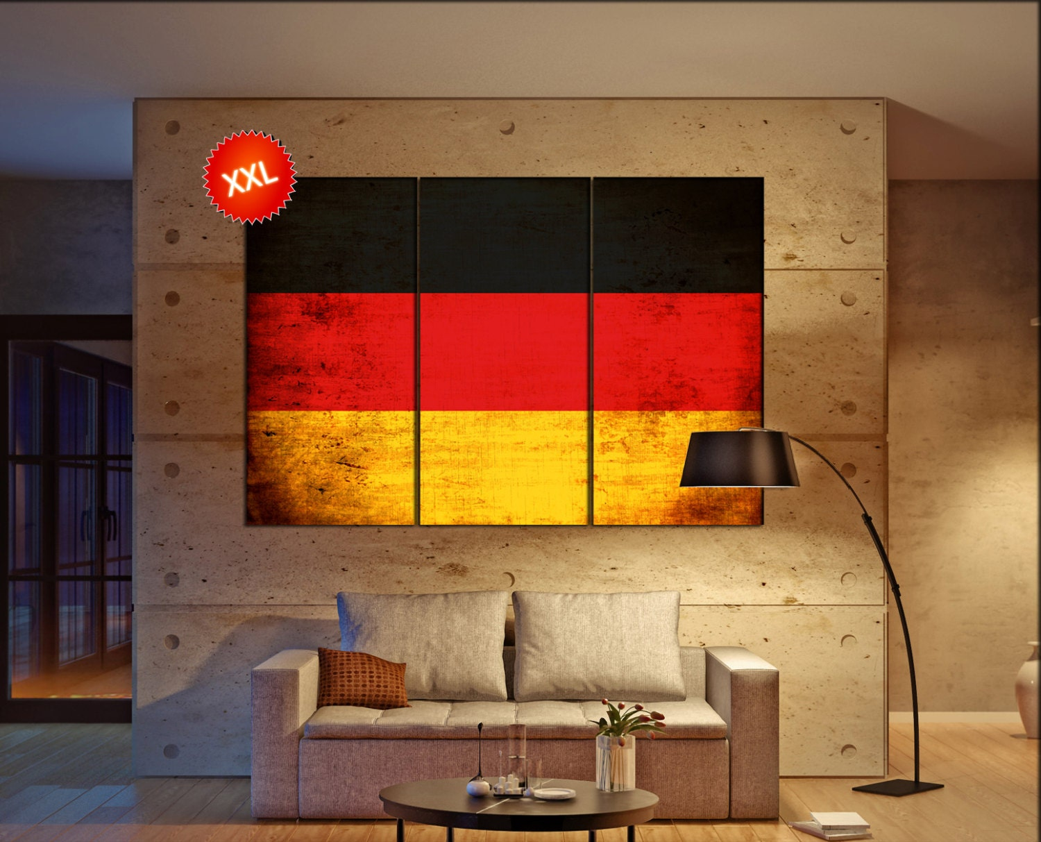 Germany Flag Canvas Wall Art Art Print Large Canvas Wall
