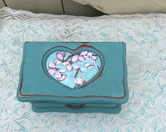 Shabby Chic Jewelry Box With Decopaged Face