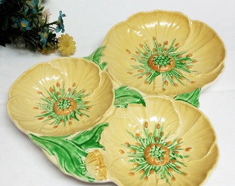 Carlton Ware Buttercup Trefoil Dish