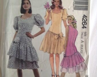 Miss Petite Dress Size 6-8-10 McCall's #4264 Sew Pattern