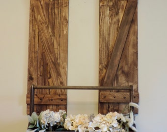 Pair of Rustic wooden shutters