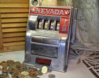 Vintage Nevada Bonanza Toy Slot Machine